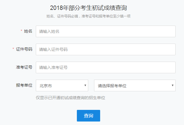 2018考研成绩查询入口:https://yz.chsi.com.cn/apply/cjcx